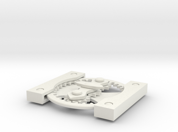 Differential gears card 3d printed