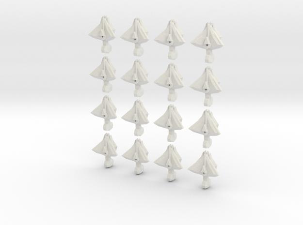 FlatDeath fleet set in White Natural Versatile Plastic