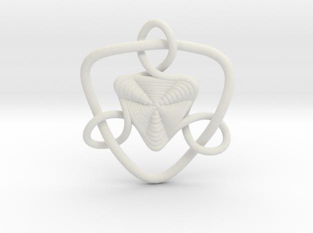 Celtic Knots 09 (small) in White Natural Versatile Plastic