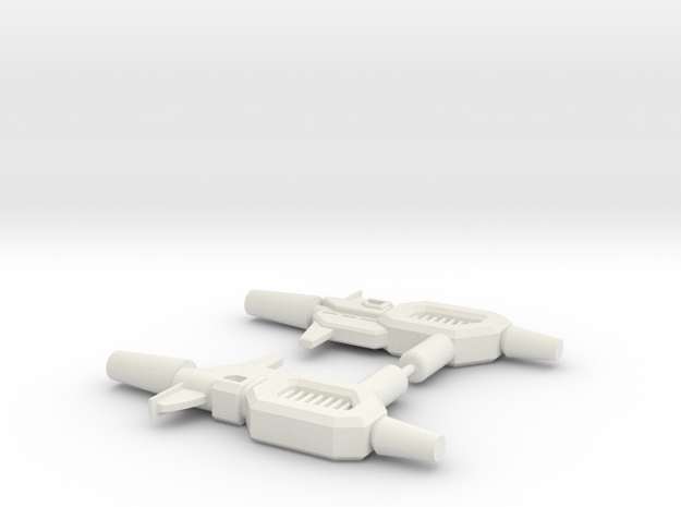 Kup Pistols (pair) in White Natural Versatile Plastic