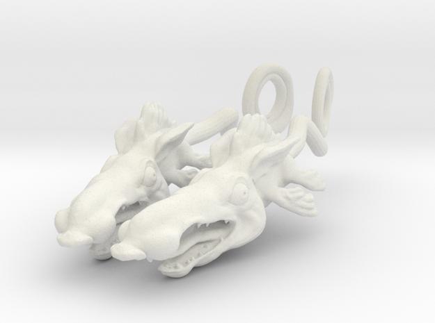 Ratfish Earrings in White Natural Versatile Plastic