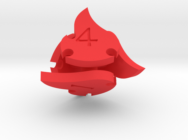 Tocrax Four-Sided Die 3d printed