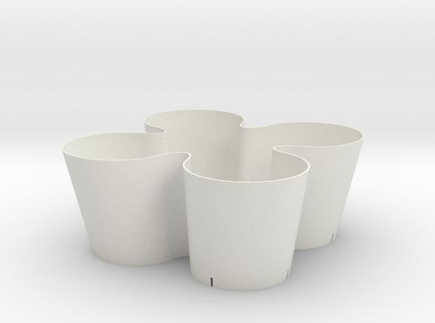 pot.on.top in White Natural Versatile Plastic