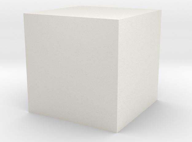 testcube in White Natural Versatile Plastic