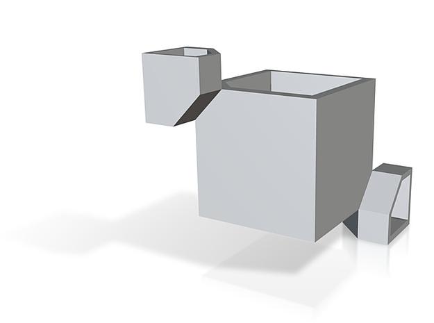 rubiks cube corner part 3d printed