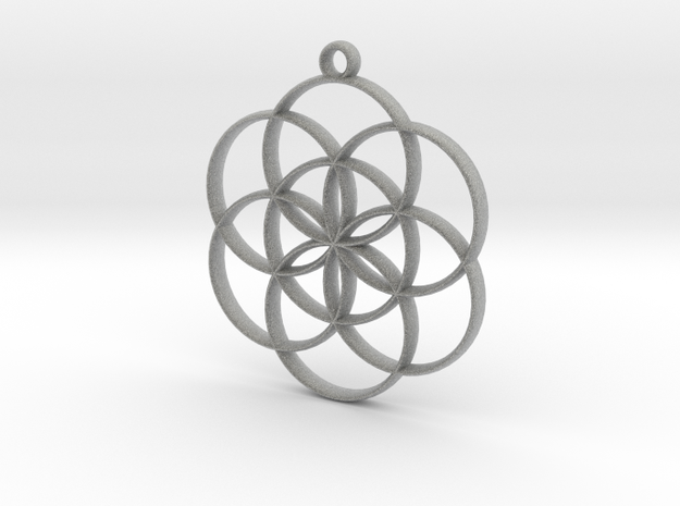 Seed of Life Pendant 3d printed