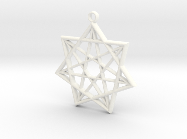Double Heptagram Pendant 3d printed