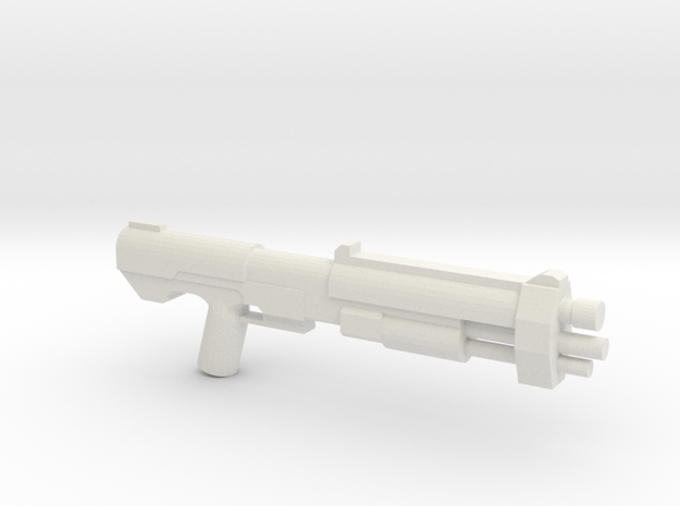 M46 Assault Shotgun Proto in White Natural Versatile Plastic