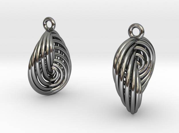 Running in Circles - Earrings (S) 3d printed