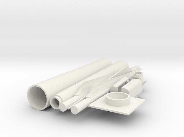 Wind Turbine Generator - Z scale in White Natural Versatile Plastic