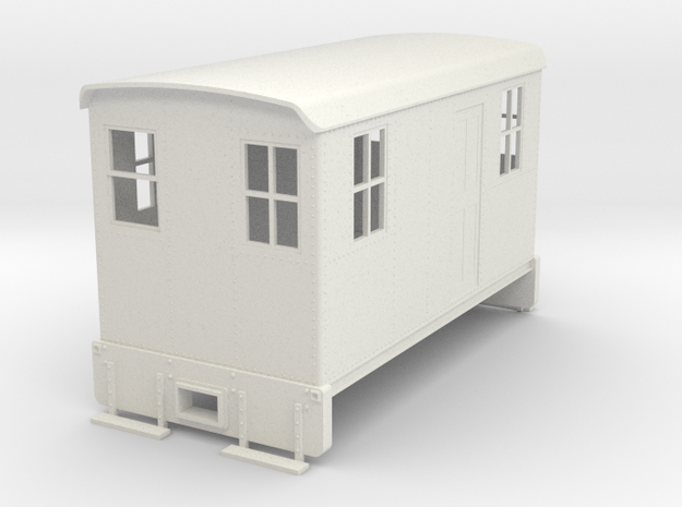 On30 Boxcab Short version in White Natural Versatile Plastic