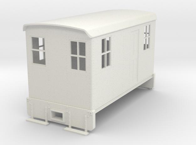 On30 Boxcab Short version in White Natural Versatile Plastic