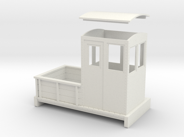 ON30 Small electric loco no 6 in White Natural Versatile Plastic