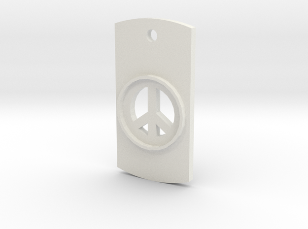 Peace Symbol Dog Tag Necklace 3d printed