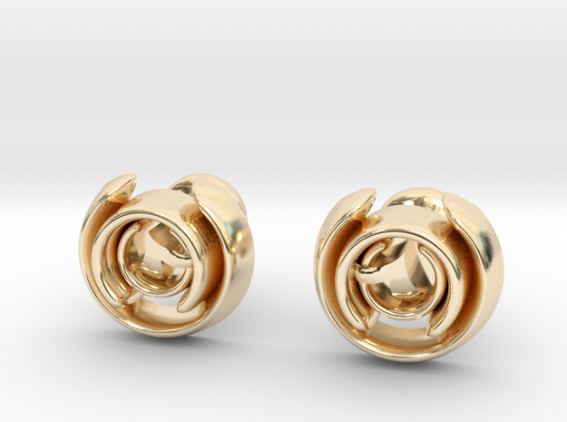 Love Song Cufflinks in 14K Yellow Gold