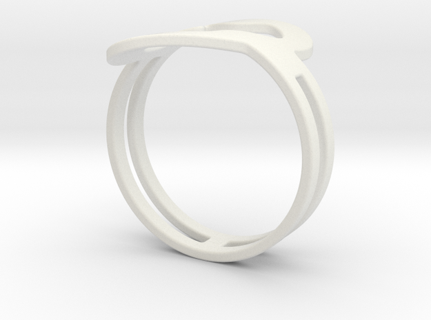 Customized fashion Ring 1 in White Natural Versatile Plastic