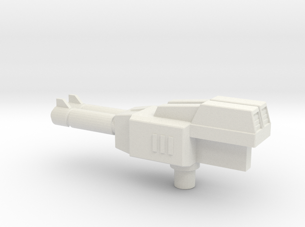 Turbo Rifle in White Natural Versatile Plastic