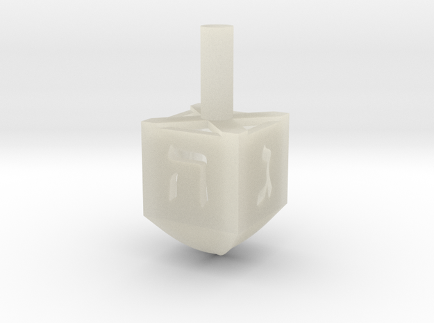 Simple Dreidel in Transparent Acrylic