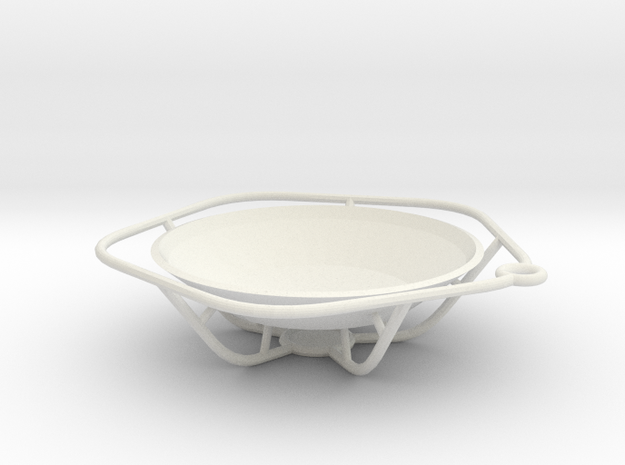 Dish in White Natural Versatile Plastic