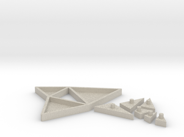 The Triangles of Pythagoras Puzzle 3d printed