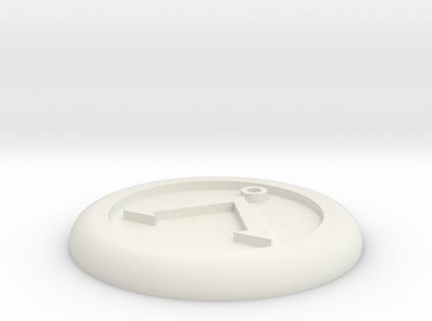 Generic base Ø30mm - Å symbol in White Natural Versatile Plastic