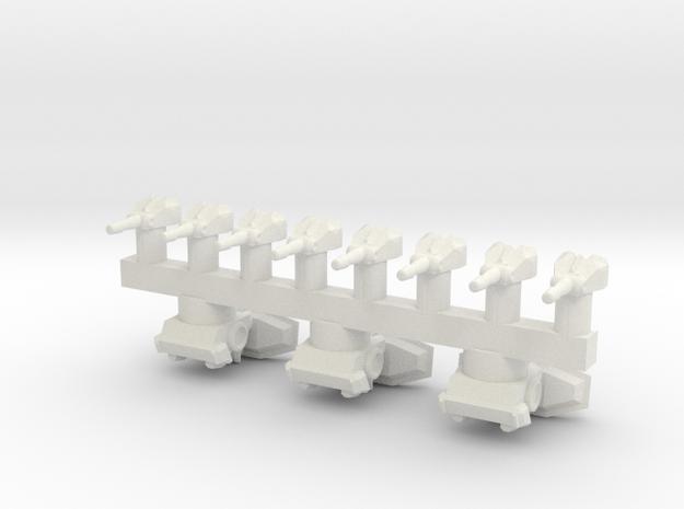 Spare Turrets in White Natural Versatile Plastic