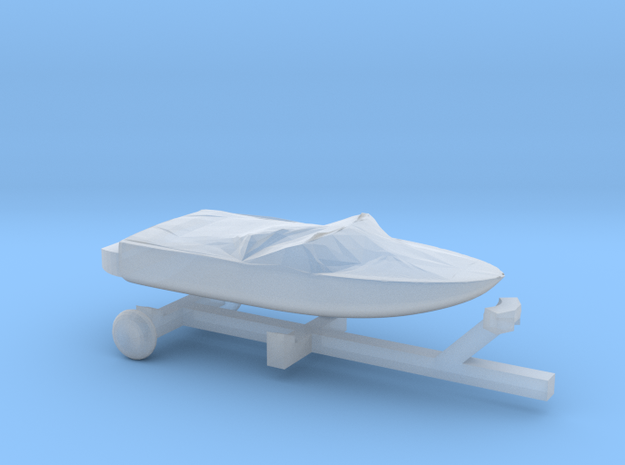 Covered Pleasure Boat - Z scale in Frosted Ultra Detail