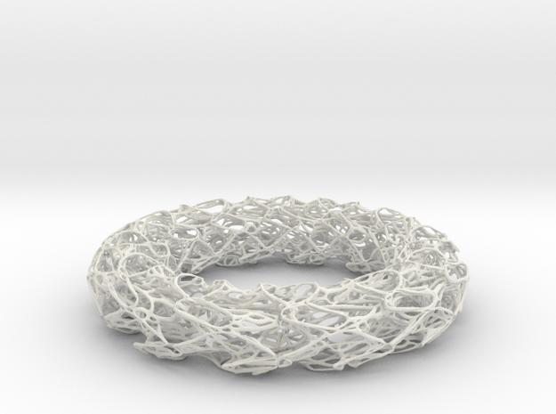 Scribbled Bracelet in White Natural Versatile Plastic