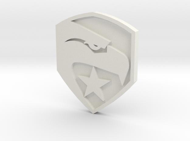 GI Joe logo button in White Natural Versatile Plastic