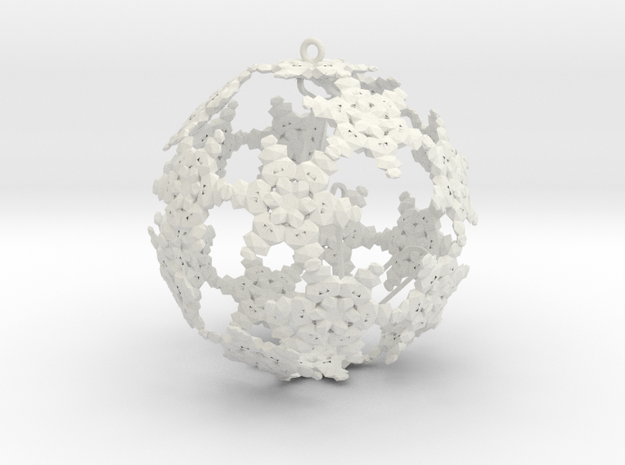 SnowBauble Initials 3d printed