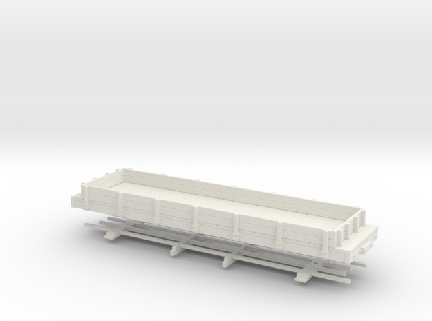 HOn30 28ft low sided gondola in White Natural Versatile Plastic
