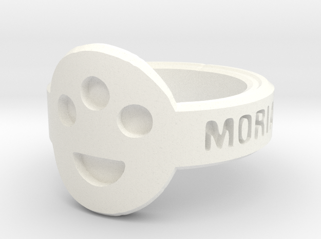The Post-Human Society Ring 3d printed