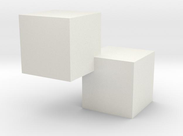 2kub in White Natural Versatile Plastic