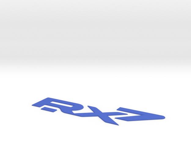 RX-7 Classic Rear Badge 3d printed