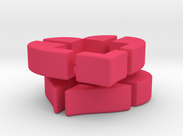 Heart 2x2x2 Puzzle 3d printed
