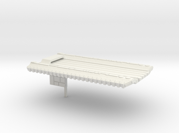 Fleet Scale Series 1: Terran Fleet Carrier in White Natural Versatile Plastic