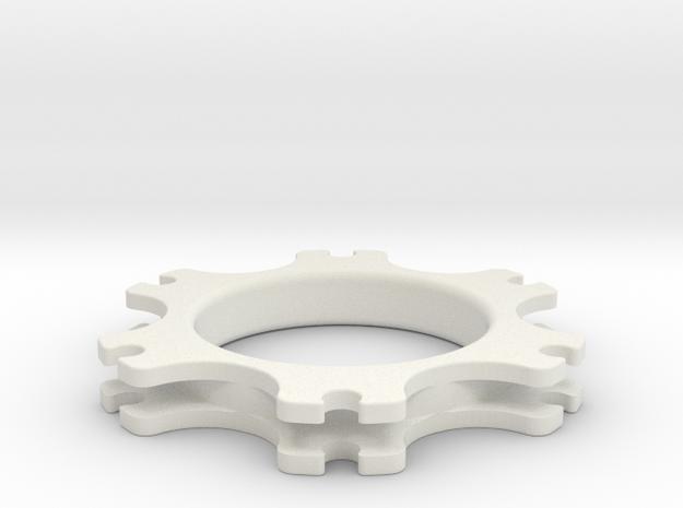 SB5 Brake Disc Guide in White Natural Versatile Plastic