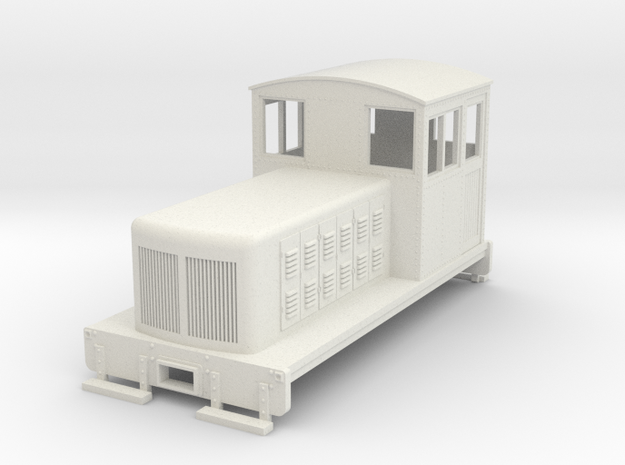 HOn30 Endcab conversion 2 for Kato 11-105 chassis in White Natural Versatile Plastic
