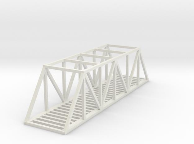 Bridge - 100 foot - Zscale in White Natural Versatile Plastic