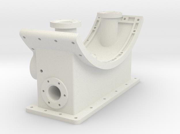 F47 Smoke Box Saddle in White Natural Versatile Plastic