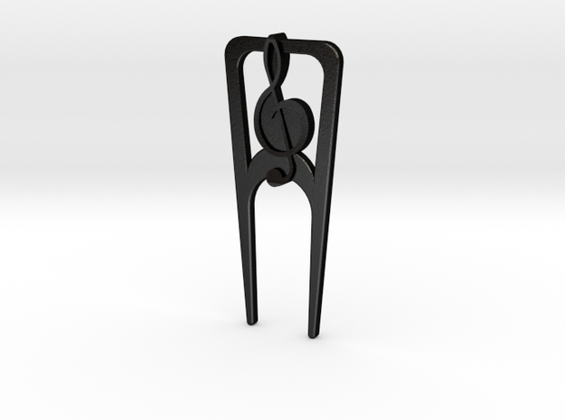 Music Divot Tool in Matte Black Steel