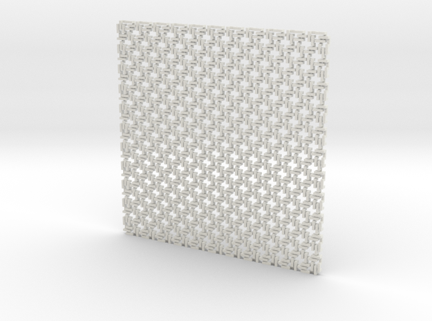 Square Maille flat N coaster (1) 3d printed