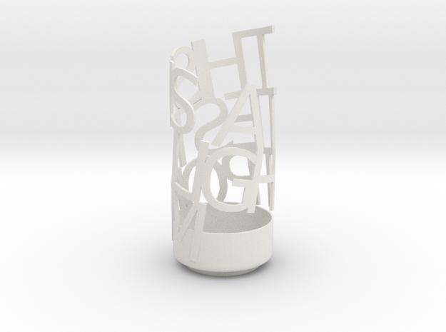 Light Poem te in White Natural Versatile Plastic