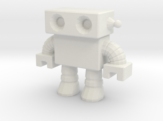 Robot 0012 in White Natural Versatile Plastic