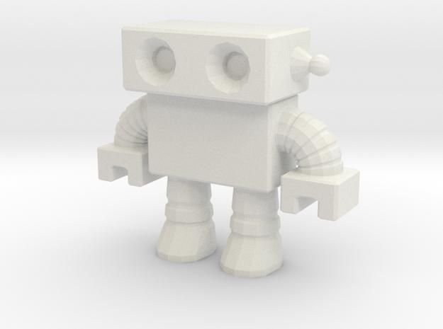 Robot 0012 in White Natural Versatile Plastic