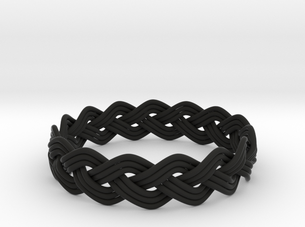 Turk's Head Knot Ring 3 Part X 15 Bight - Size 25 3d printed