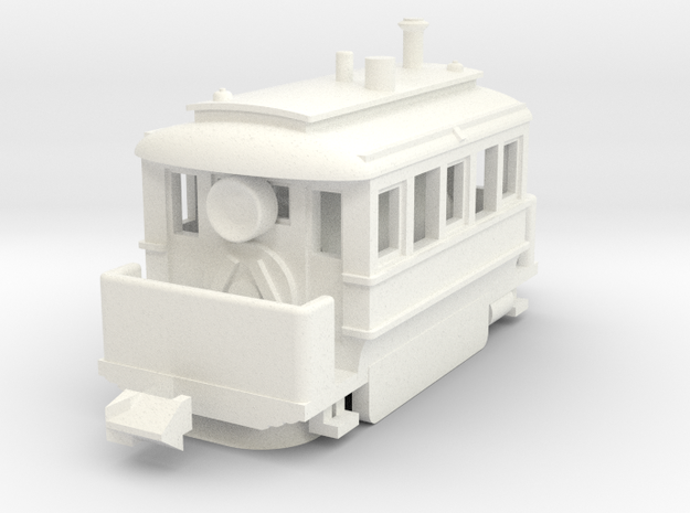 1001-3 Early Baldwin Steam Tram (Type B) 1:148 3d printed