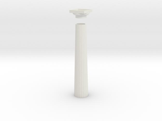17.5cm Doric Column - hollow core - Hollow plinth 3d printed