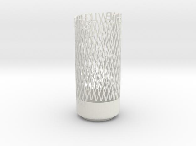 Light Poem 1 in White Natural Versatile Plastic