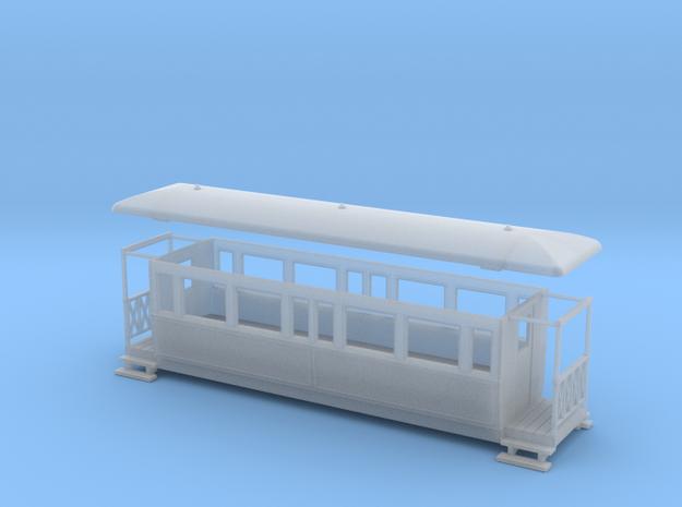 OO9 Tramway bogie coach 3d printed